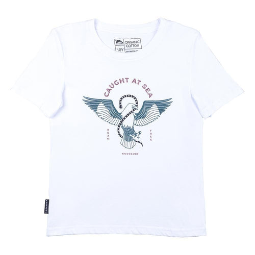 KS Brahminy Kite Kid's Tee (Organic White) - KS Boardriders | Philippines Online Branded Clothes & Surf Shop