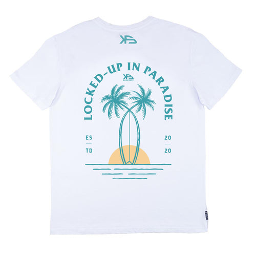 KS Lockdown Essential Men's Tee (Organic White) - KS Boardriders | Philippines Online Branded Clothes & Surf Shop