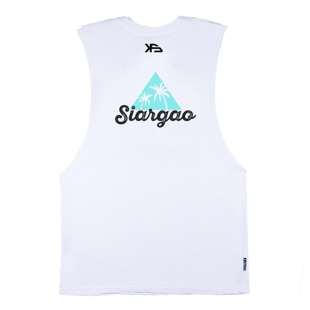 KS Siargao Men's Muscle Tank (Cotton White) - KS Boardriders | Philippines Online Branded Clothes & Surf Shop