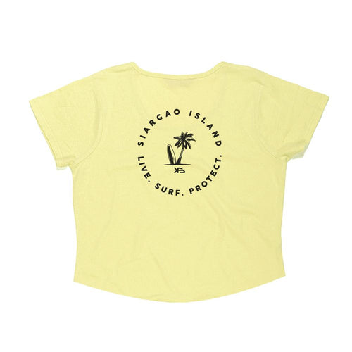KS Surf Women's Crop Top (Cotton Yellow) - KS Boardriders | Philippines Online Branded Clothes & Surf Shop