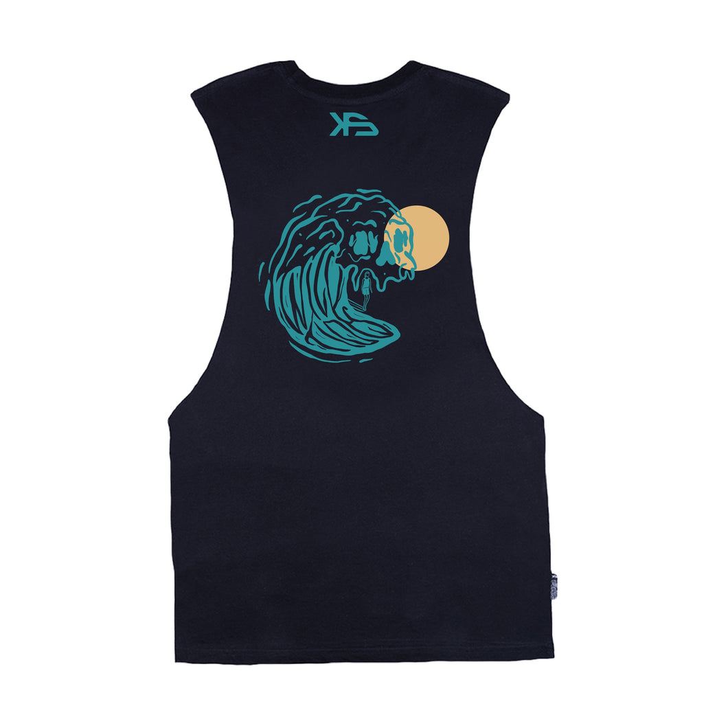 KS Wild Ripper Muscle Tank (Organic Black) - KS Boardriders | Philippines Online Branded Clothes & Surf Shop