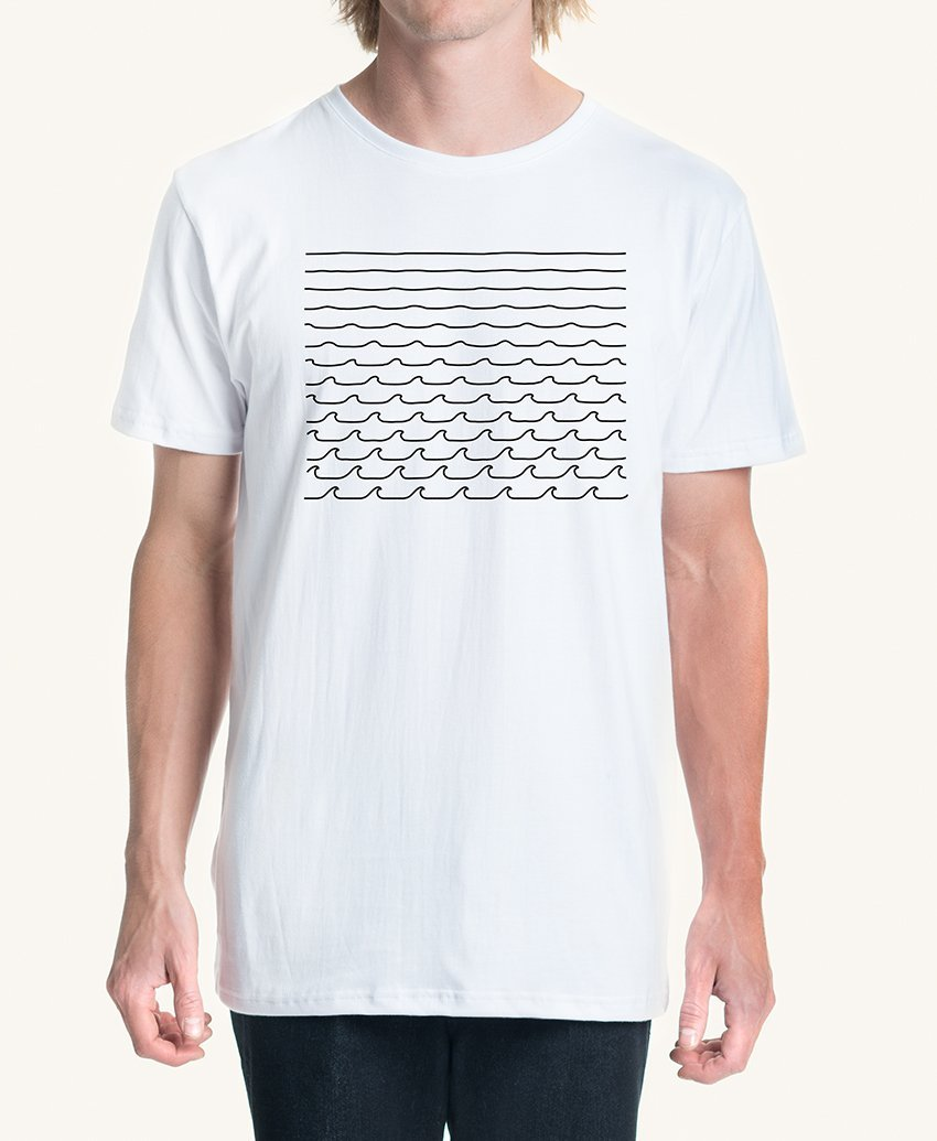 Pleasant Always Wave Men's Tee (White) - KS Boardriders | Philippines Online Branded Clothes & Surf Shop