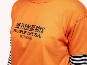Pleasant Band Tour Burnt Spain Women's Tee (Orange) - KS Boardriders | Philippines Online Branded Clothes & Surf Shop