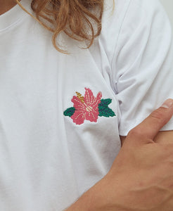Pleasant Hibiscus Men's Tee (White) - KS Boardriders | Philippines Online Branded Clothes & Surf Shop