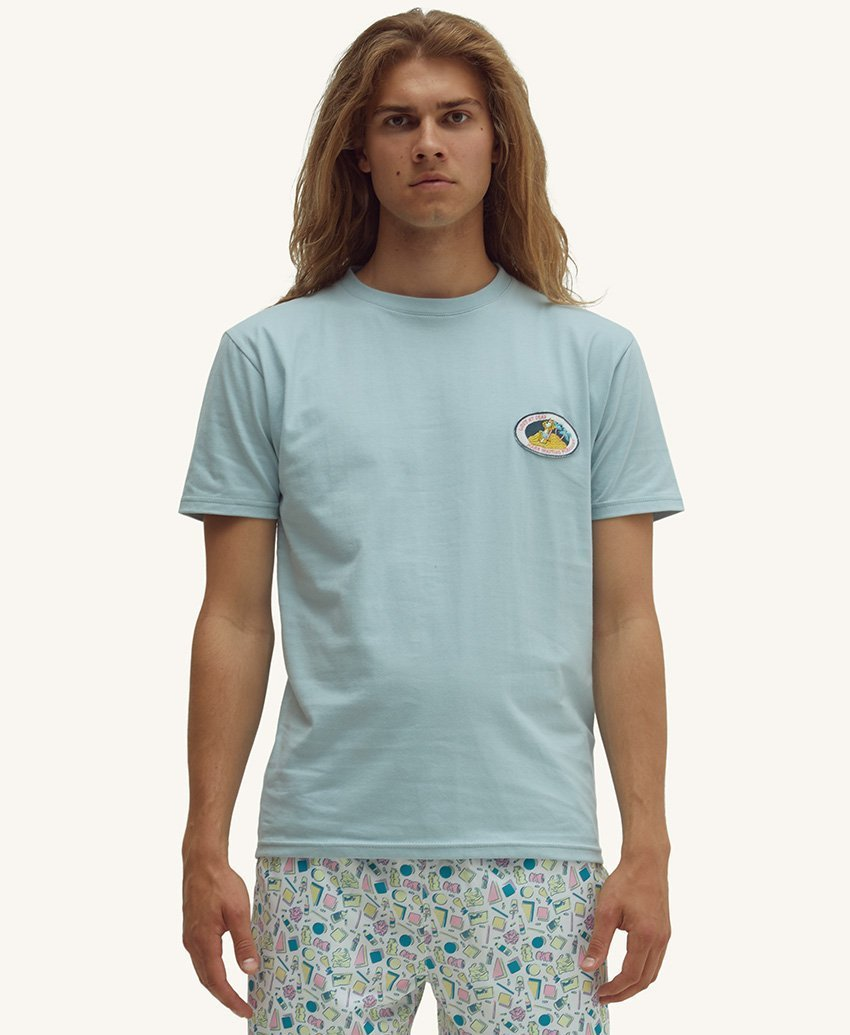 Pleasant Patch Men's Tee (Blue) - KS Boardriders | Philippines Online Branded Clothes & Surf Shop