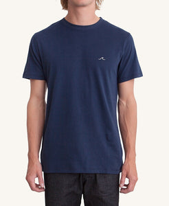 Pleasant Wave Men's Tee w/ Chest Embroidery (Navy) - KS Boardriders | Philippines Online Branded Clothes & Surf Shop