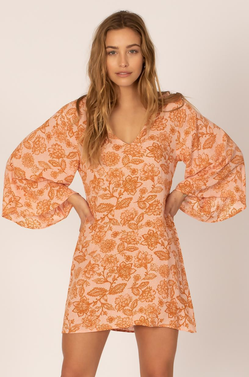 Sisstr Whispering Winds Woven Dress (Peach) - KS Boardriders | Philippines Online Branded Clothes & Surf Shop