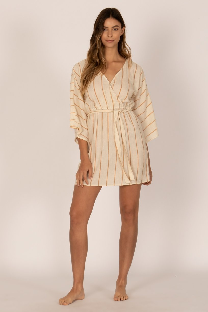 Sisstr Wrap Me Up Dress (Vintage White) - KS Boardriders | Philippines Online Branded Clothes & Surf Shop