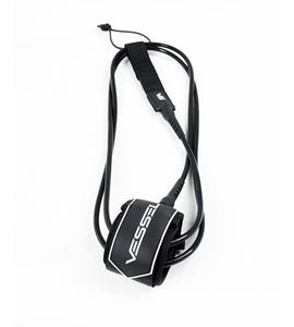 Vessel 9' Premium Leash - Black - KS Boardriders | Philippines Online Branded Clothes & Surf Shop