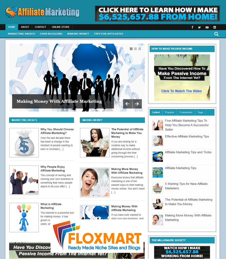 Affiliate Marketing Niche Blog - Floxmart