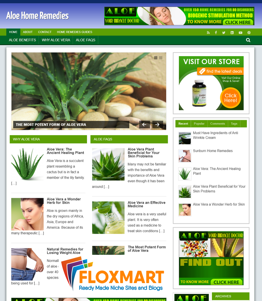 Aloe Remedies Turnkey Website - Floxmart