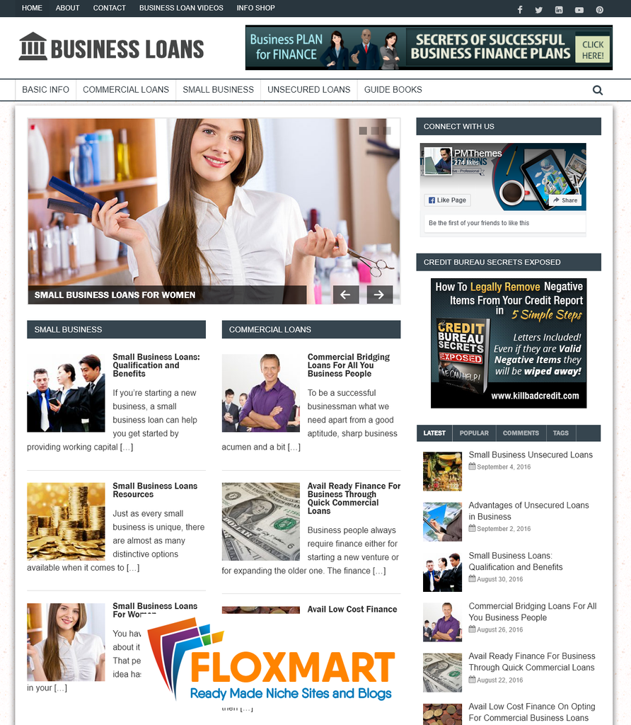 Business Loans Starter Website - Floxmart