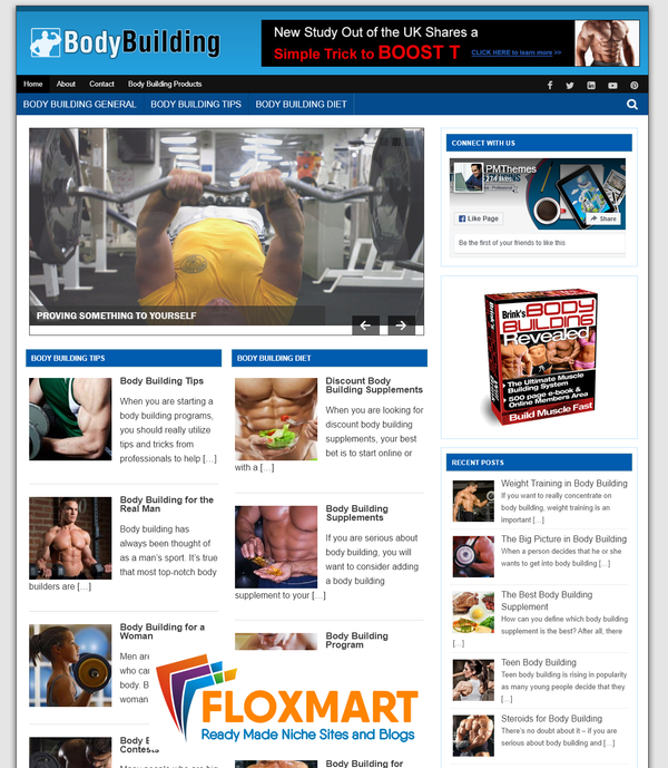 Body Building WordPress Blog - Floxmart