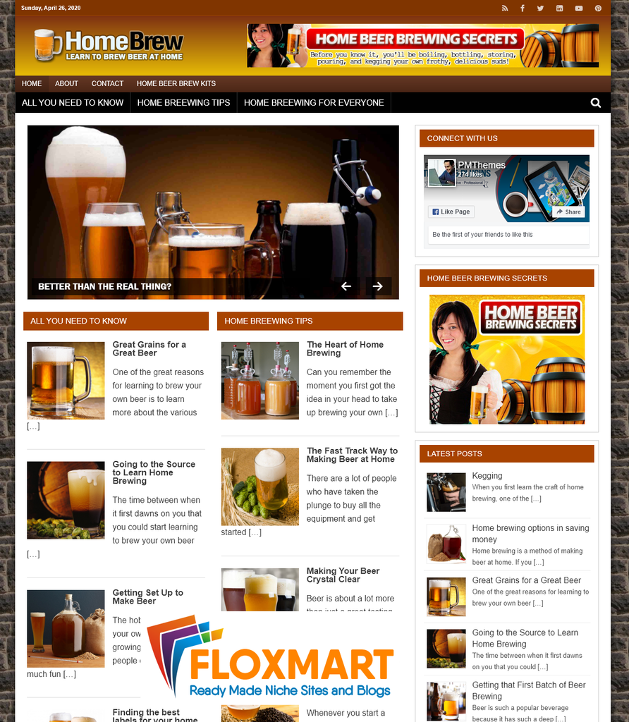 Home Brewing PLR Niche Blog - Floxmart