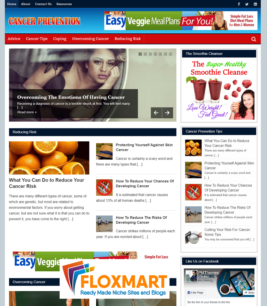 Cancer Prevention PLR Blog - Floxmart
