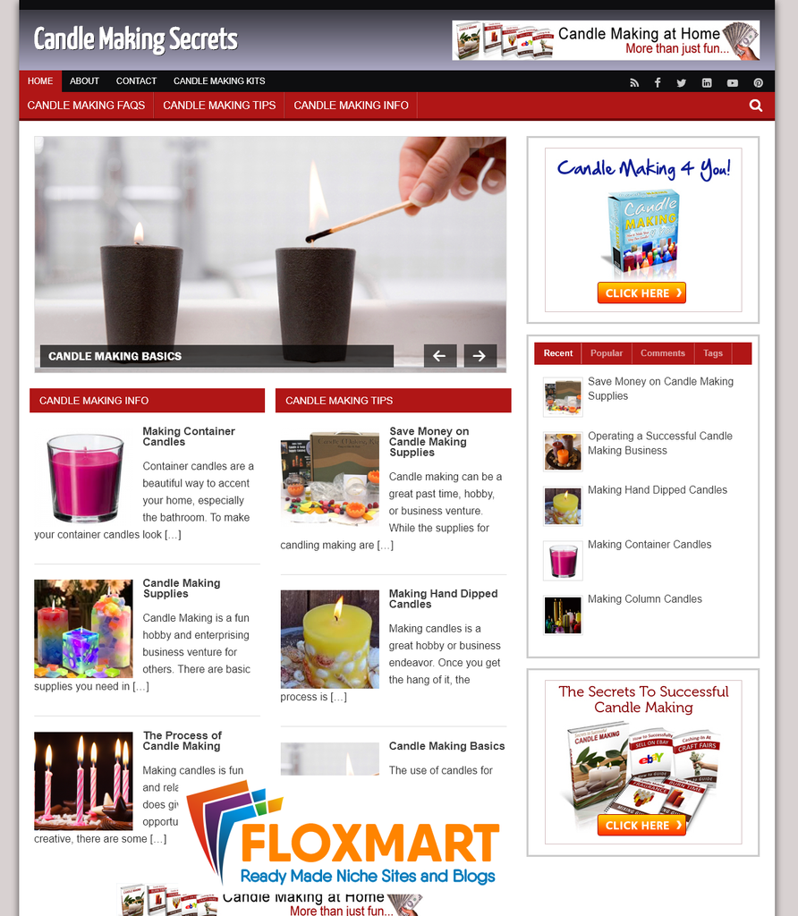 Candle Making PLR Blog - Floxmart