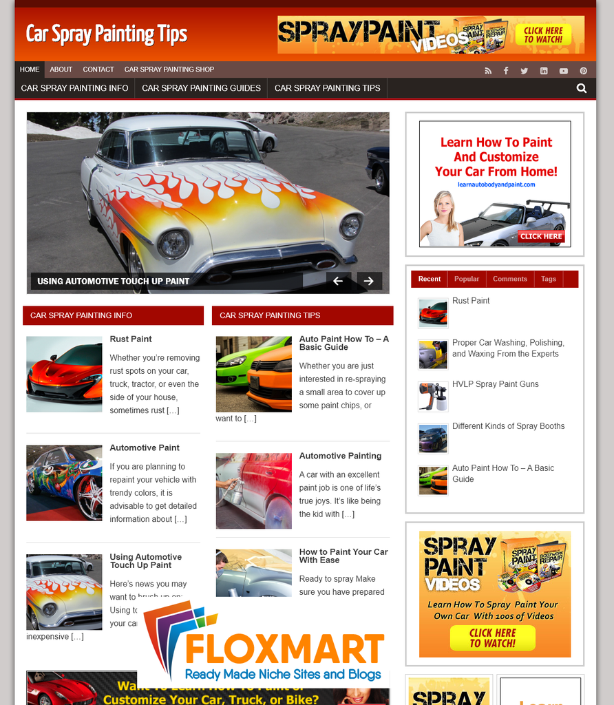 Car Spray Painting Turnkey Website - Floxmart
