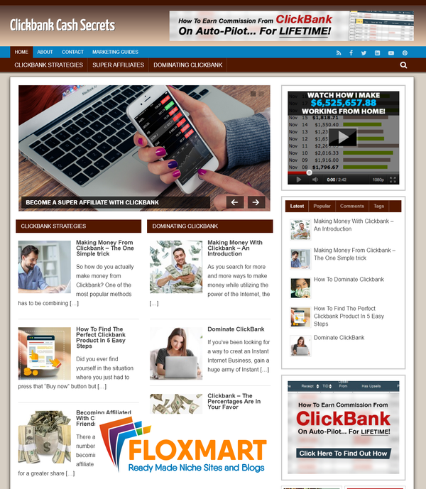Clickbank Marketing Turnkey Website - Floxmart