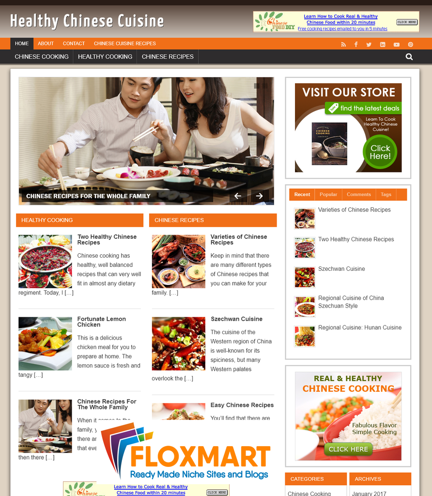 Chinese Cuisine Starter Turnkey Website - Floxmart