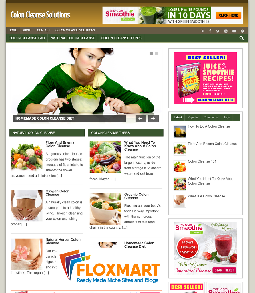Colon Cleanse Turnkey Website - Floxmart