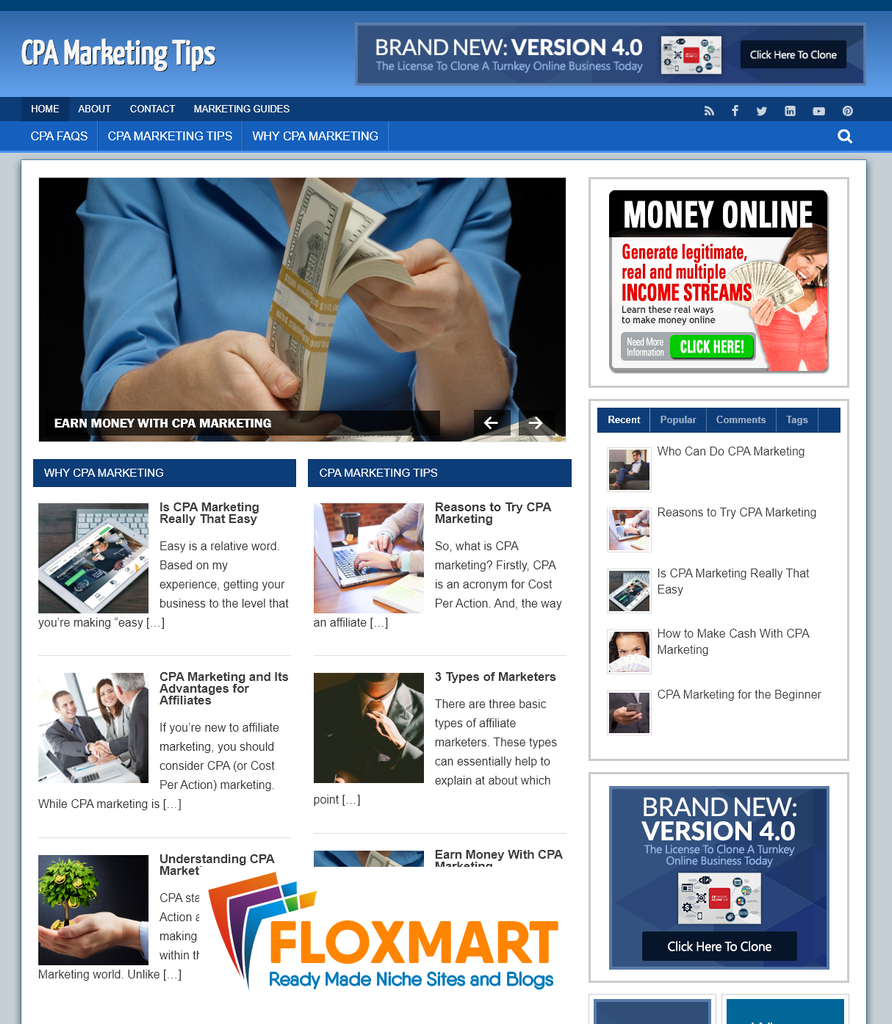 CPA Marketing Clickbank Site - Floxmart