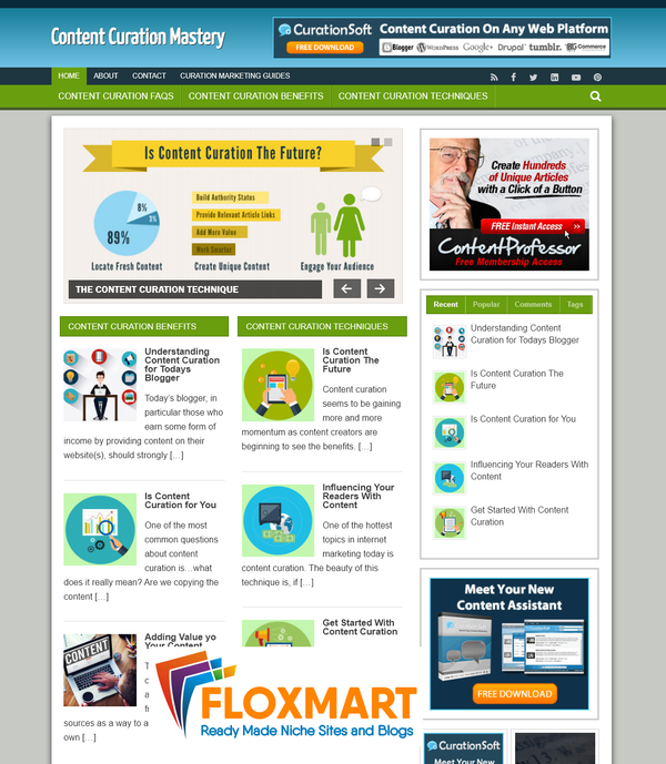 Content Curation Ready Made Niche Website - Floxmart