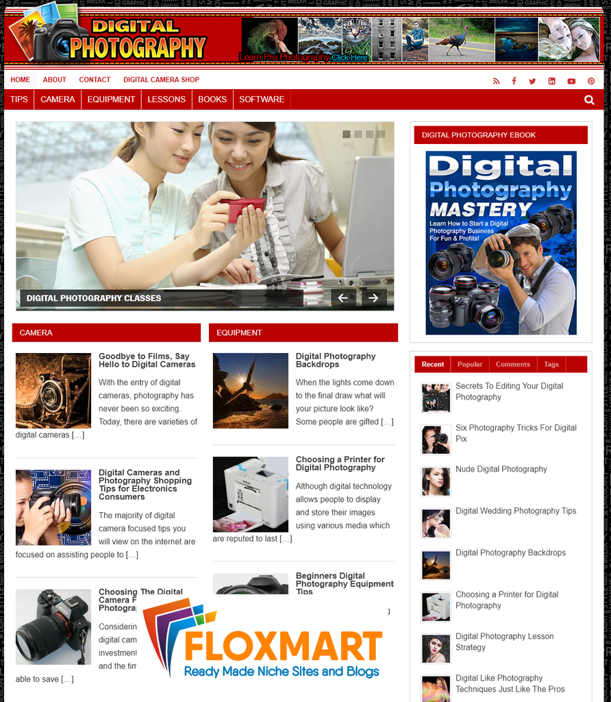 Digital Photography WordPress Site - Floxmart