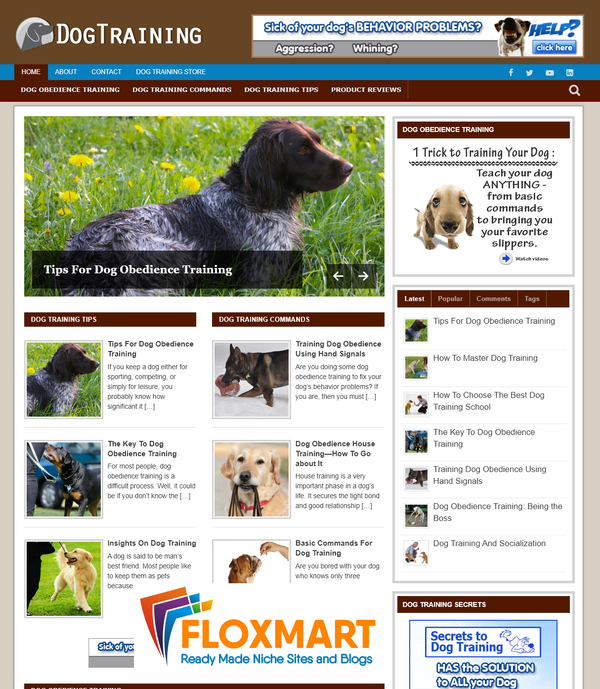 Dog Training Niche PLR Site - Floxmart