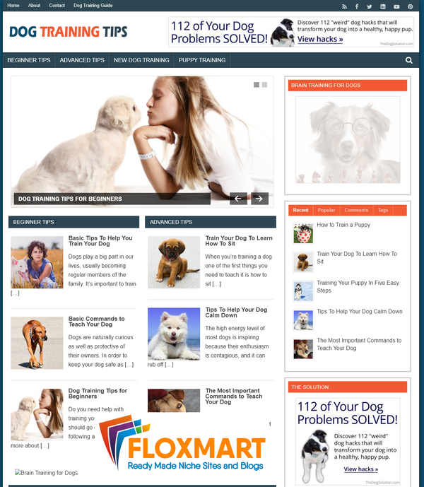 "Dog Training Tips – ""Done-for-you"" PLR Blog - Floxmart"