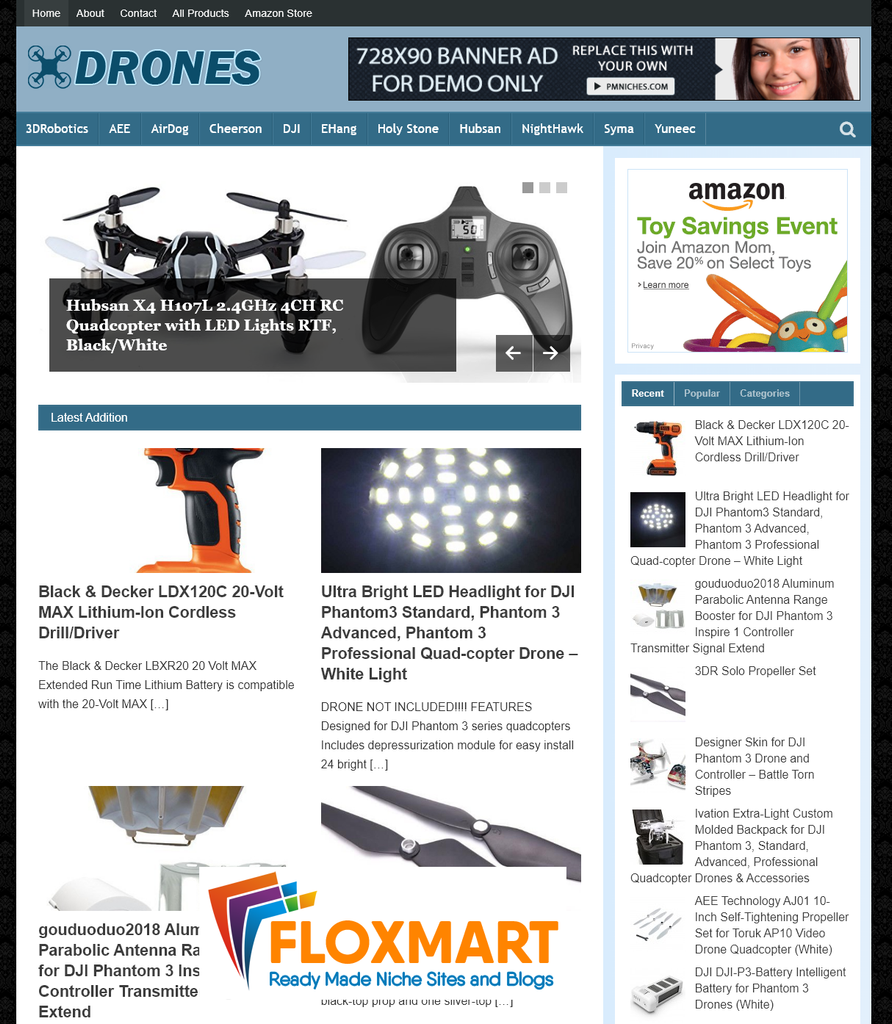 Drones and Quadcopters PLR Blog - Floxmart