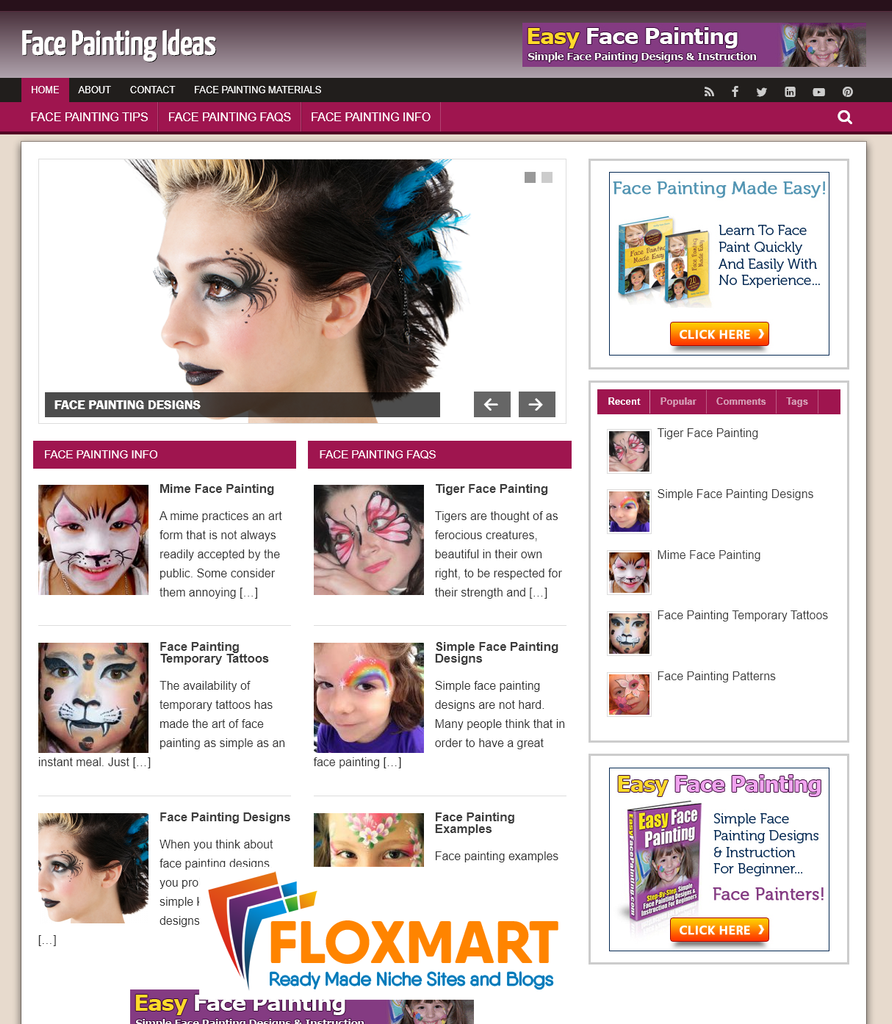 Face Painting Niche PLR Blog - Floxmart