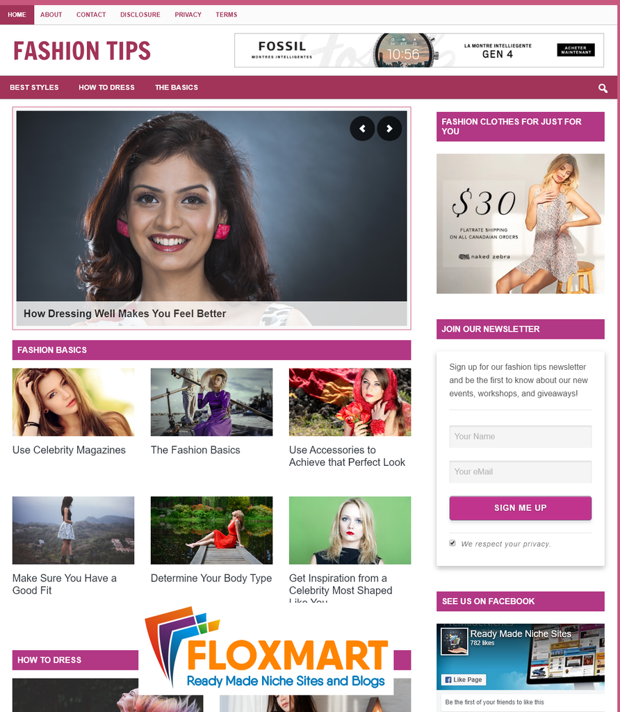 Fashion Tips PLR Blog - Floxmart