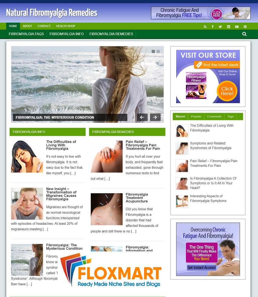 Fibromyalgia Custom WordPress Site - Floxmart