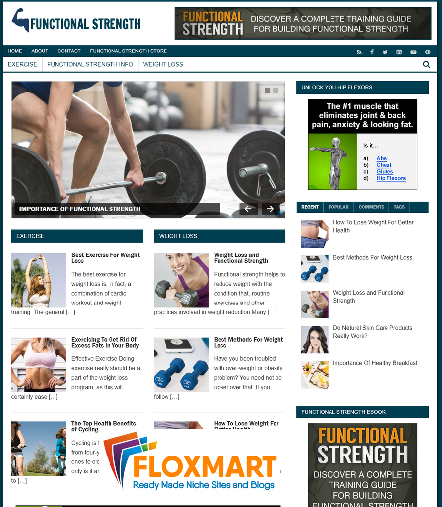 Functional Strength Turnkey Site - Floxmart