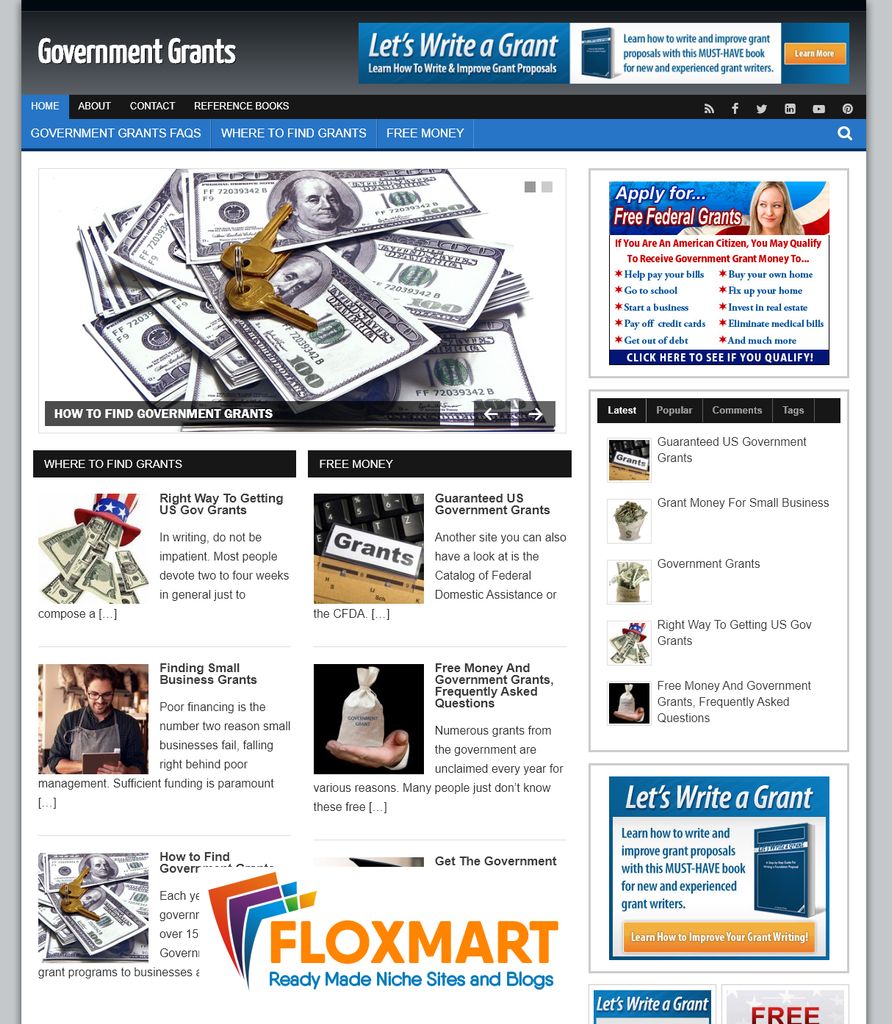 Government Grants Pre Made Blog - Floxmart