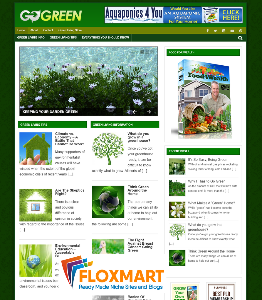 Green Living Niche Blog - Floxmart