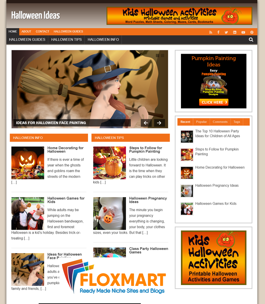 Halloween Ready Made Blog - Floxmart