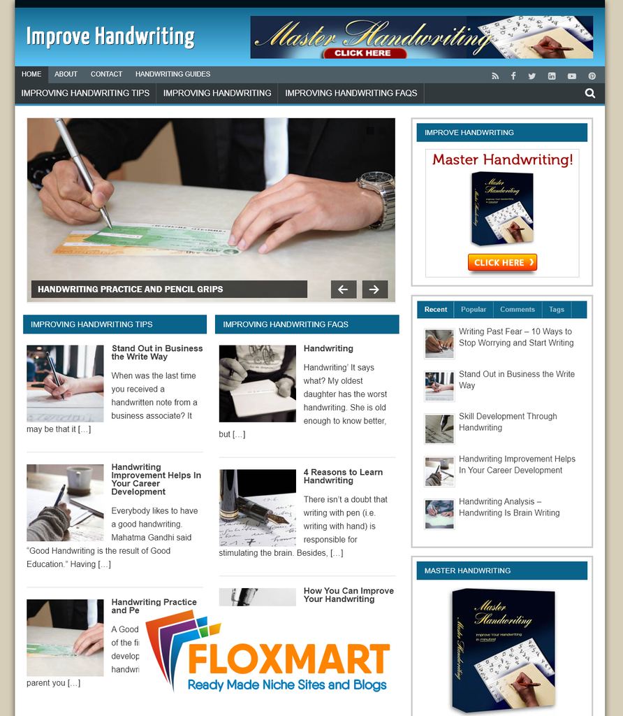 Improve Handwriting Ready Made Website - Floxmart