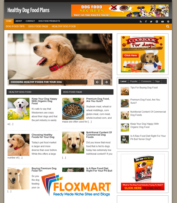 Healthy Dog Food Starter Website - Floxmart