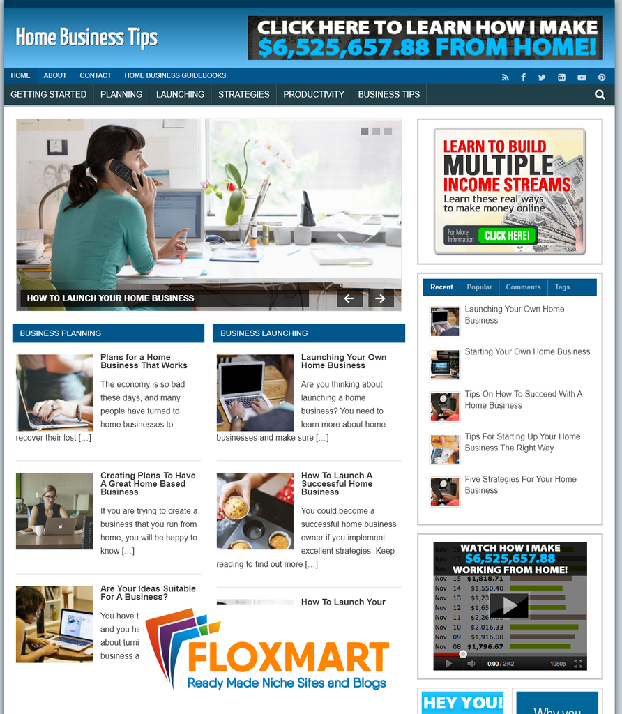 Home Business Tips Turnkey Website - Floxmart