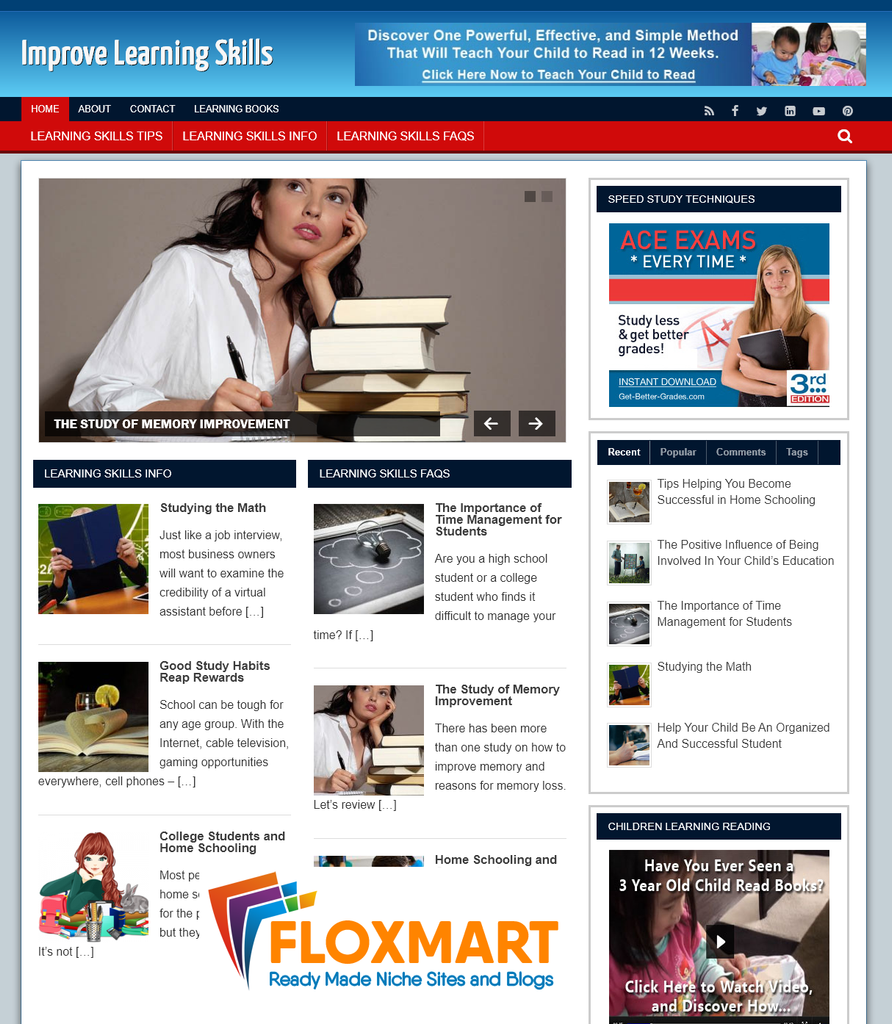 Improve Learning Niche Blog - Floxmart