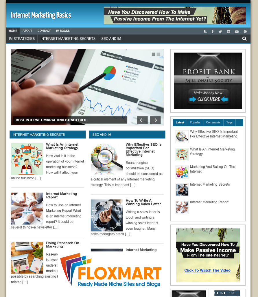 Internet Marketing Starter Website - Floxmart