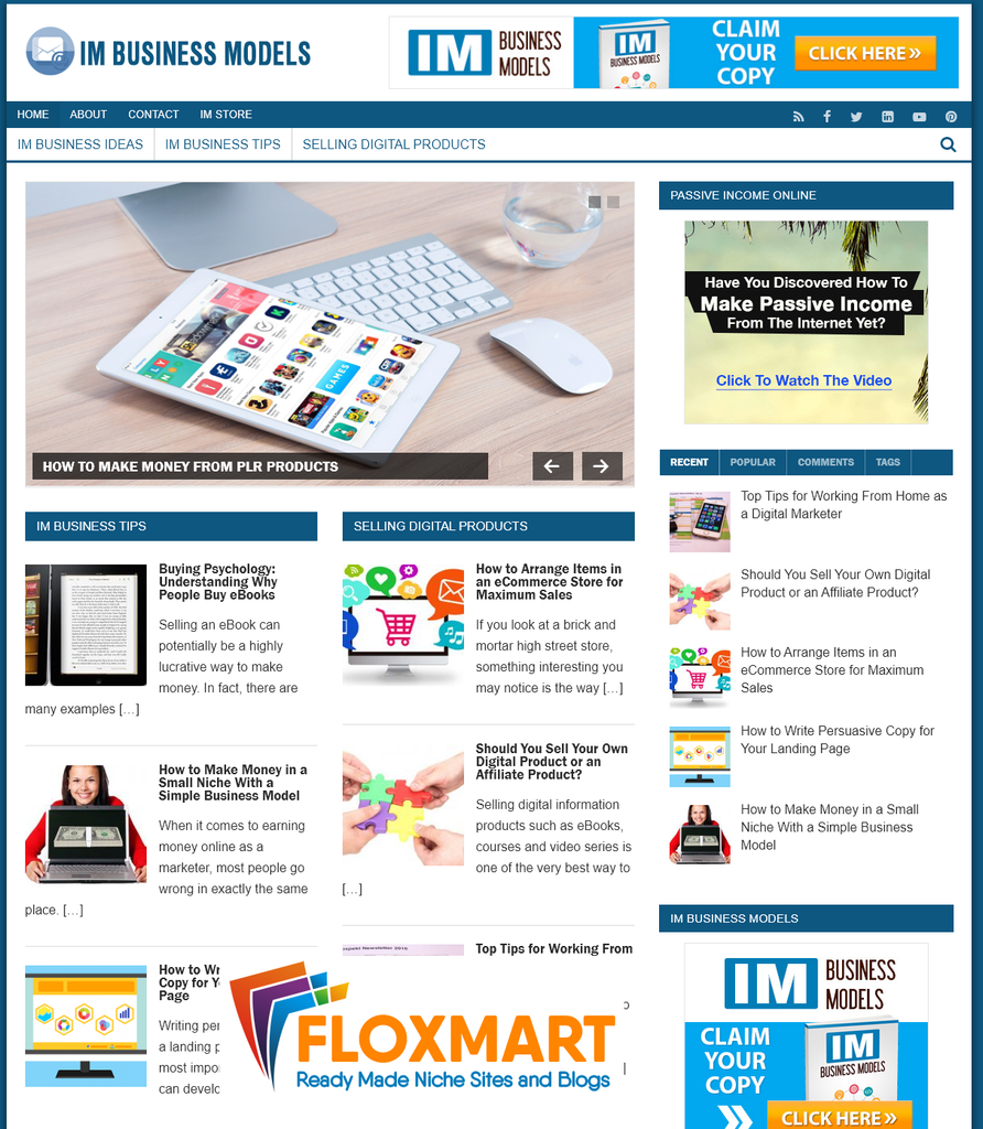 IM Business Models Ready Made Site - Floxmart