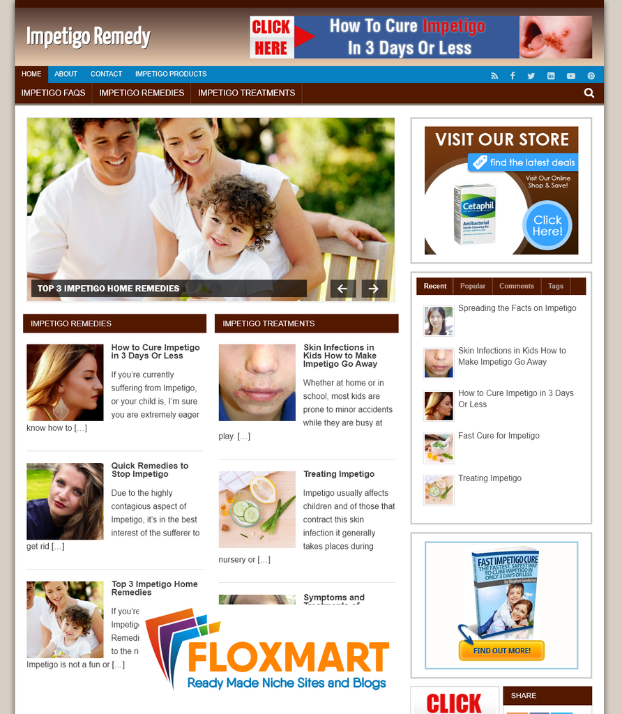 Impetigo Ready Made WordPress Blog - Floxmart