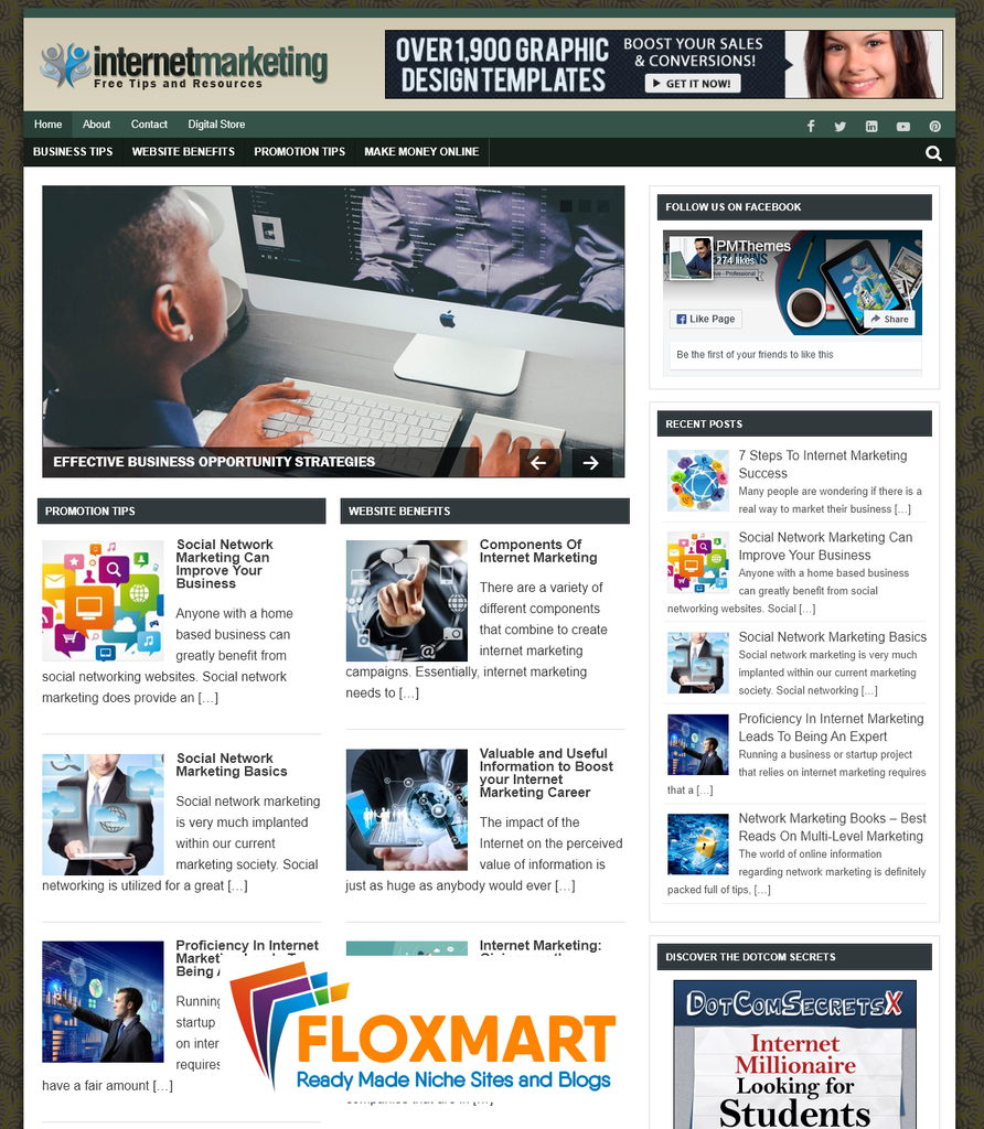 Internet Marketing PLR Niche Blog - Floxmart