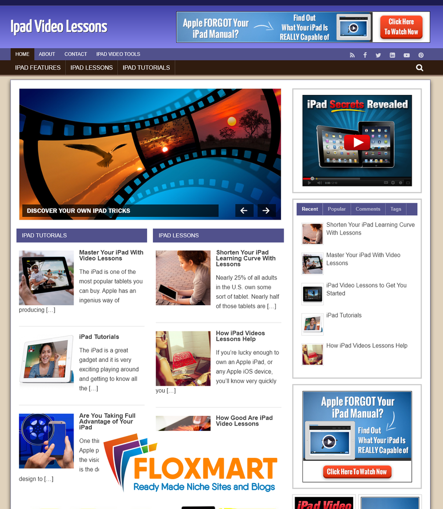 iPad Video Lessons Affiliate Blog - Floxmart