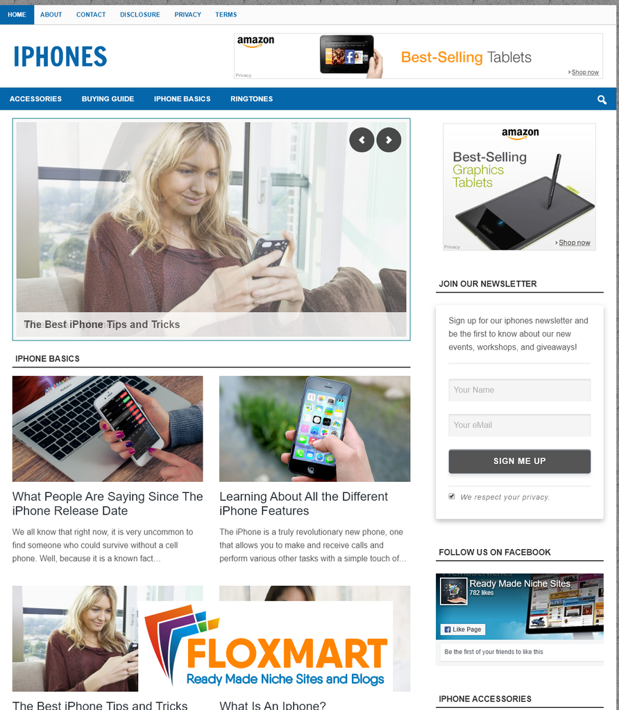 iPhone PLR Affiliate Site - Floxmart