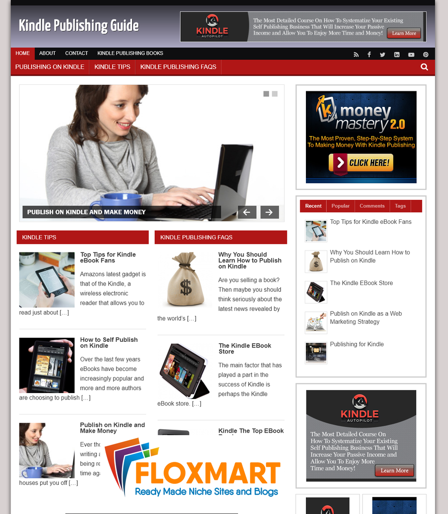 Kindle Publishing PLR Site - Floxmart