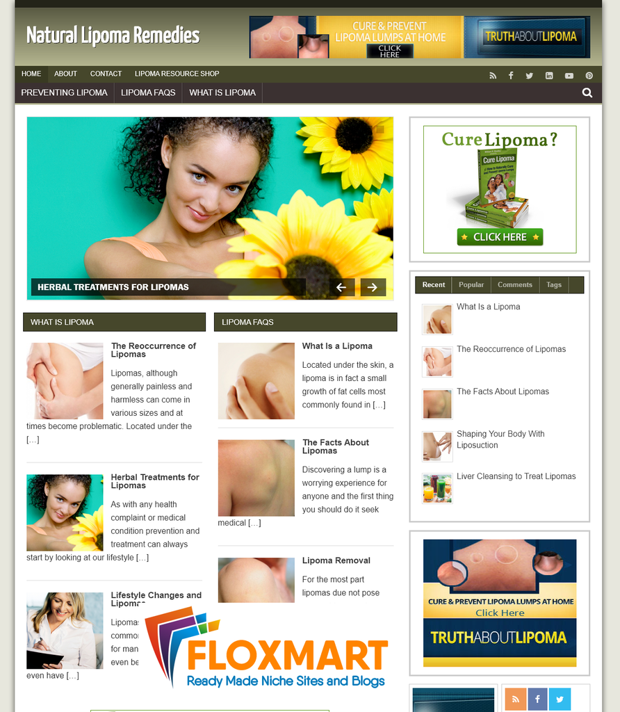 Lipoma Remedy PLR Site - Floxmart