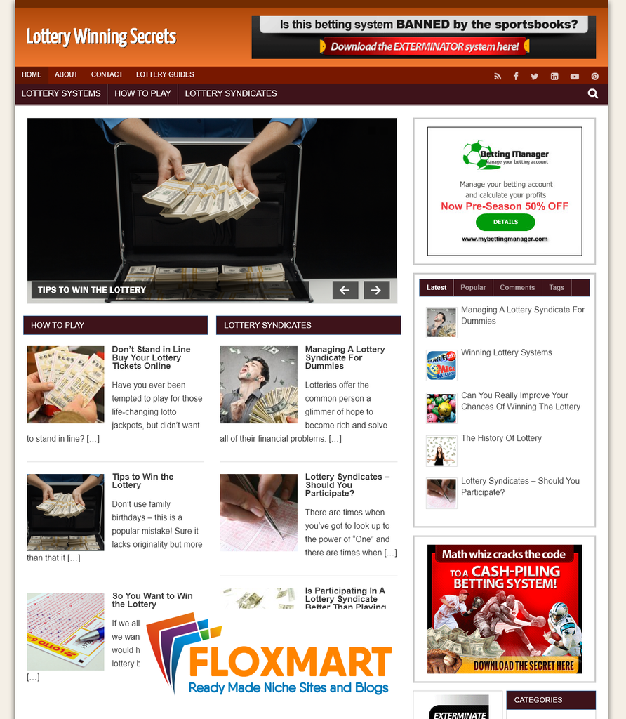 Lottery Ready Made Starter Blog - Floxmart